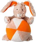 Зайче с топка - Плюшена играчка -
