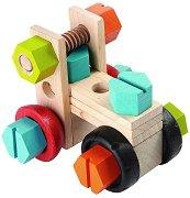 Превозни средства - Детски конструктор от дърво -