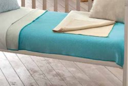 Памучно бебешко одеяло - Точки: Light Blue - Размер 75 x 90 cm -