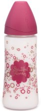 Розово бебешко шише за хранене - Haute Couture Premium 360 ml - Комплект със силиконов биберон с променящ се поток за бебета от 0+ месеца - шише