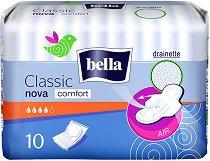 Bella Classic Nova Comfort - Дамски превръзки с крилца в опаковка от 10 броя - гел