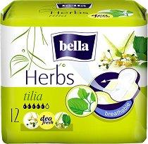 Bella Herbs Tilia Deo Fresh - Дамски превръзки с крилца в опаковка от 12 броя - дамски превръзки