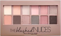 Maybelline The Blushed Nudes Eyeshadow Palette - Палитра сенки за очи - масло