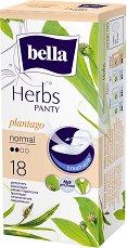 Bella Herbs Panty Normal Plantago - Ежедневни дамски превръзки в опаковка от 18 броя - дамски превръзки