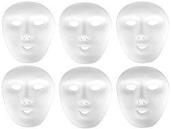 Пластмасови маски с ластик - Комплект от 6 броя за декориране