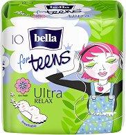 Bella for Teens Ultra Relax Deo Fresh - Дамски превръзки с крилца в опаковка от 10 броя - дамски превръзки