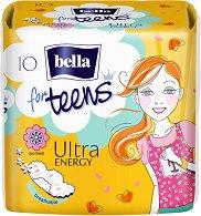 Bella for Teens Ultra Energy Deo Fresh - Дамски превръзки с крилца в опаковка от 10 броя - дамски превръзки