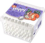 Клечки за уши за бебета -  Bella Baby Happy - Опаковка от 56 броя - дезодорант