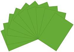 Полупрозрачна хартия - Зелена - Комплект от 10 броя