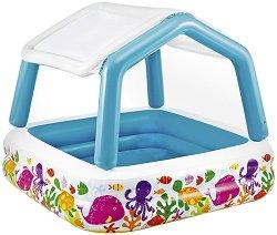 Надуваем детски басейн със сенник - играчка