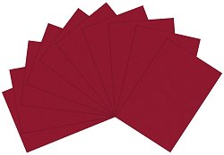 Полупрозрачна хартия - Тъмно червено