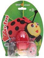 """Забавна глина за моделиране - Калинка - Творчески комплект от серията """"Eggly toys"""" -"""