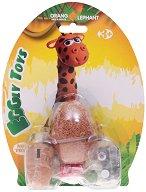 """Забавна глина за моделиране - Жирафче - Творчески комплект от серията """"Eggly toys"""" -"""