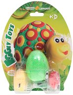 """Забавна глина за моделиране - Костенурче - Творчески комплект от серията """"Eggly toys"""" -"""