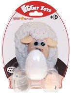 """Забавна глина за моделиране - Овчица - Творчески комплект от серията """"Eggly toys"""" -"""