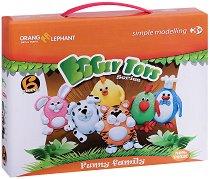 """Моделирай сам с цветна глина - Забавно семейство - Творчески комплект от серията """"Eggly toys"""" -"""