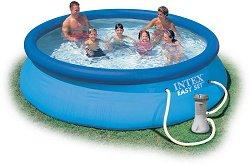 Надуваем басейн с филтърна помпа - Easy Set -