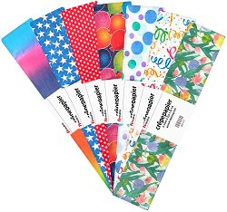 Креп хартия - Парти мотиви - Комплект от 7 броя с размери 50 x 250 cm