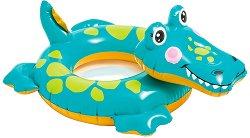 Надуваем детски пояс - Крокодилче - Аксесоар за плуване - играчка