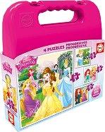 """Принцесите на Дисни - Четири пъзела от серията """"Progressive Puzzles"""" -"""
