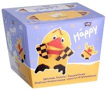 Bella Baby Happy Universal Tissues - Двуцветни универсални сухи кърпи в опаковка от 80 броя - продукт