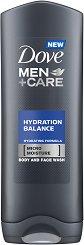 """Dove Men+Care Hydration Balance Body & Face Wash - Хидратиращ душ гел за мъже от серията """"Men+Care"""" - душ гел"""