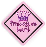 Двустранна табела с надпис - Принцеса в колата - Аксесоар за автомобил -