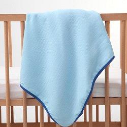 Синя бебешка муселинова пелена - Размер 90 x 90 cm - продукт