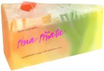 Bomb Cosmetics Pina Pinata Soap Cake - Ръчно изработен сапун с масла от портокал и грейпфрут -