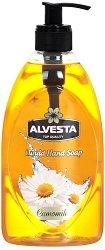 Alvesta Liquid Hand Soap Camomile - Течен сапун за ръце с аромат на лайка - несесер