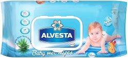 Alvesta Baby Wet Wipes - Бебешки мокри кърпички в опаковка от 72 броя -