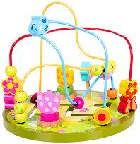 Лабиринт - Цвете - Дървена образователна играчка - играчка