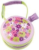 Лилава кутийка за залъгалки - Flowers - продукт