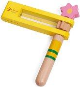 Дървено кречетало - Цвете - играчка