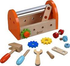 Дървени инструменти - Детски комплект с аксесоари -