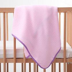 Розова бебешка муселинова пелена - Размер 90 x 90 cm -