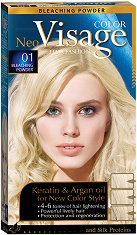 Visage Color Hair Fashion Bleaching Powder 01 - Осветляваща пудра за коса -