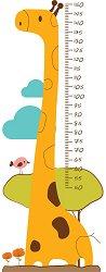 Ръстомер - Жирафче - Детски метър-стикер за измерване на височина от 50 cm до 150 cm -