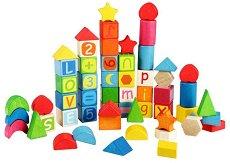 Детски дървени образователни кубчета - играчка