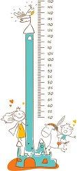 Ръстомер - Замък - Детски метър-стикер за измерване на височина от 50 cm до 150 cm -