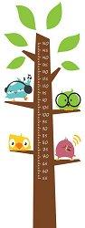 Ръстомер - Дърво - Детски метър-стикер за измерване на височина от 55 cm до 150 cm - продукт