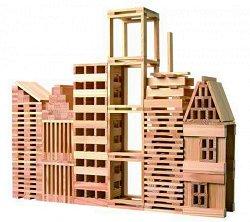 Детски дървен конструктор - 250 части -