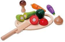 Зеленчуци - Детски комплект за игра от дърво -