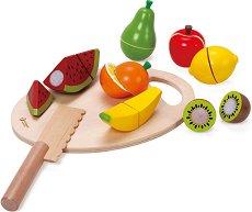 Плодове - Детски комплект за игра от дърво - играчка