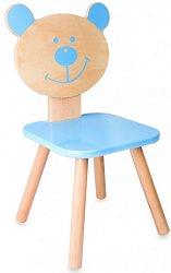 Детско дървено столче - Мече - играчка