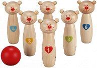 Боулинг с мечета - Детски дървен комплект за игра - играчка