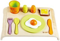Закуска - Детски комплект за игра от дърво - играчка