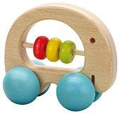 Дрънкалка - Слонче - Бебешка дървена играчка -