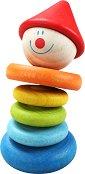 Дрънкалка - Клоун - Бебешка дървена играчка - играчка