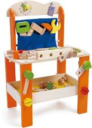 Детска работилница - Комплект с дървени инструменти за игра -